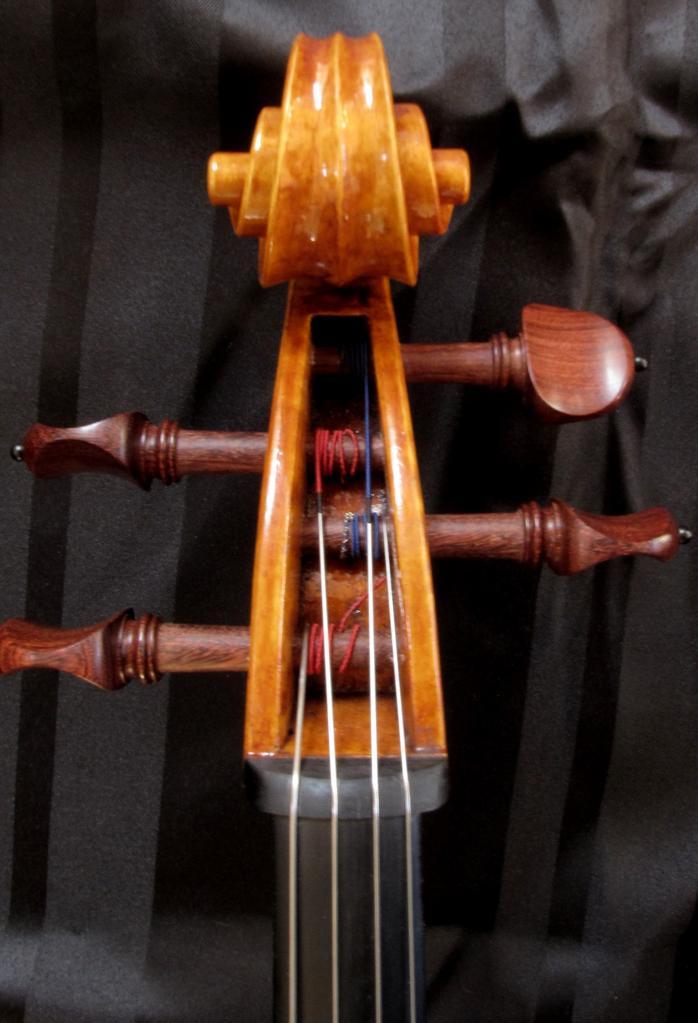 violoncelle Paradisiaea Raggia (tête face) vendu à Pau